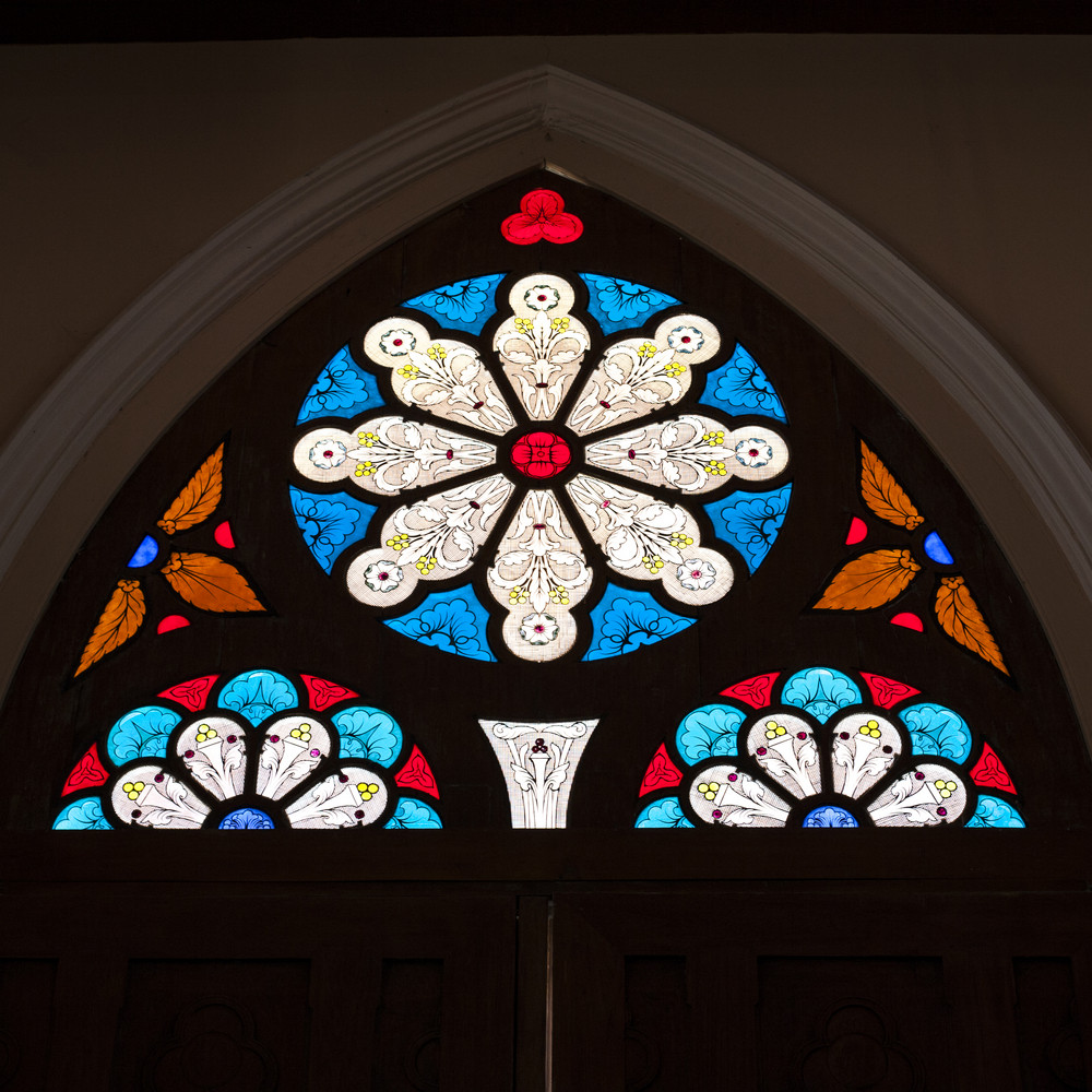 church interior glass