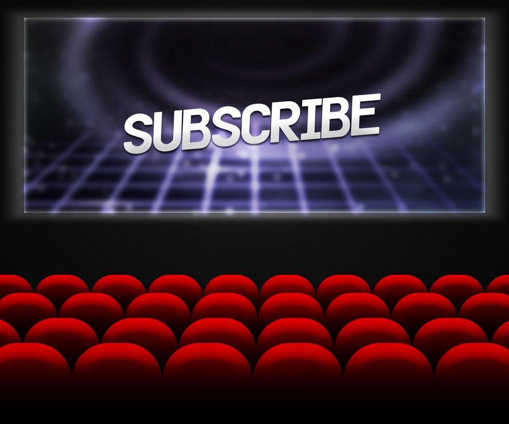 Cinema Hall Background Subscribe
