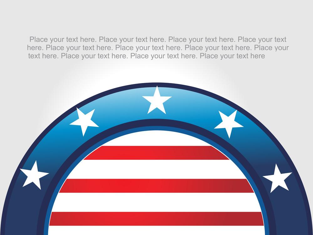 Circle In Us Flag Pattern