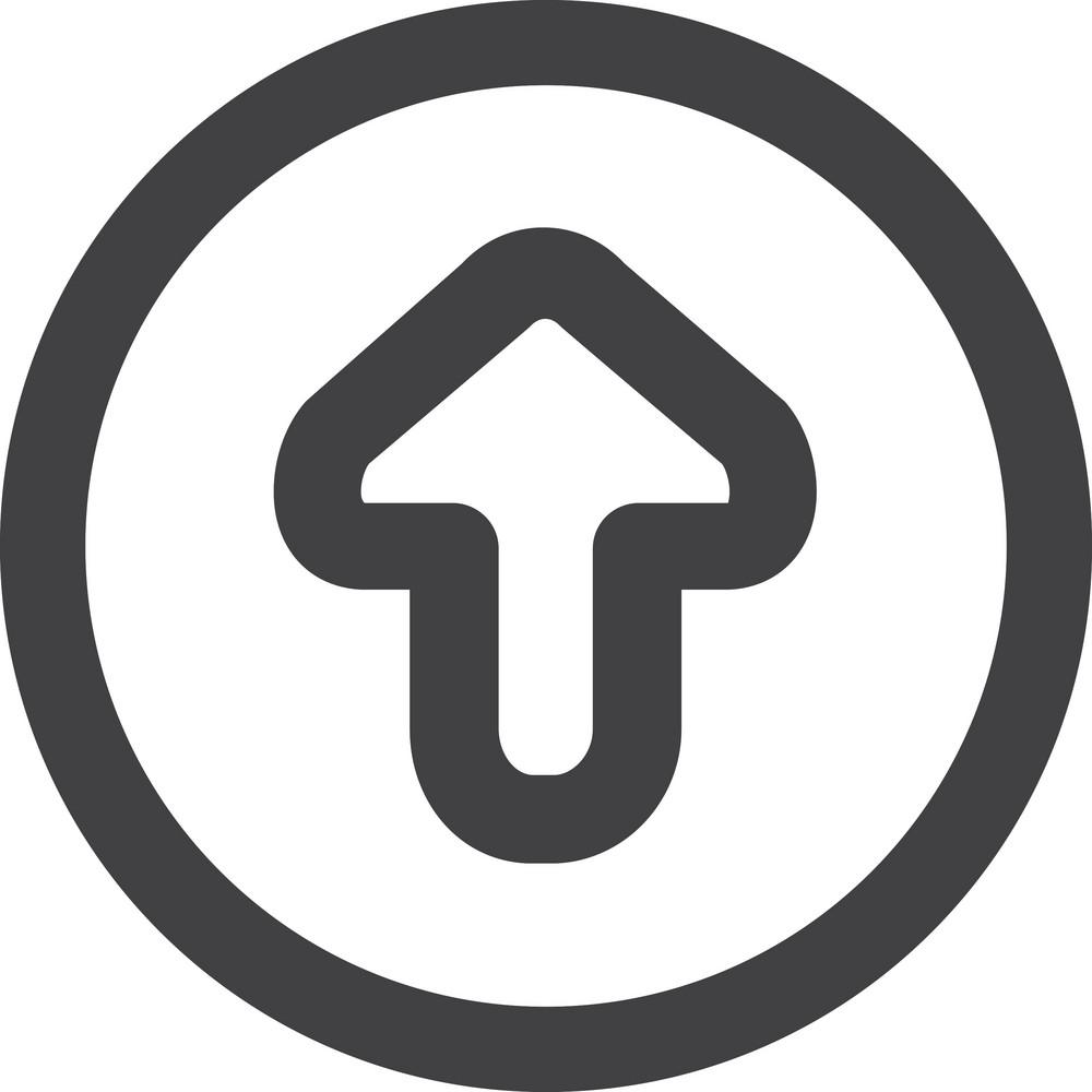 Circled Up Arrow Stroke Icon