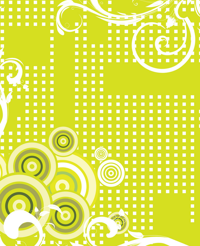 Circles And Halftone Background