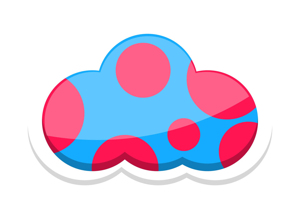 Circles Pattern Cloud Sticker