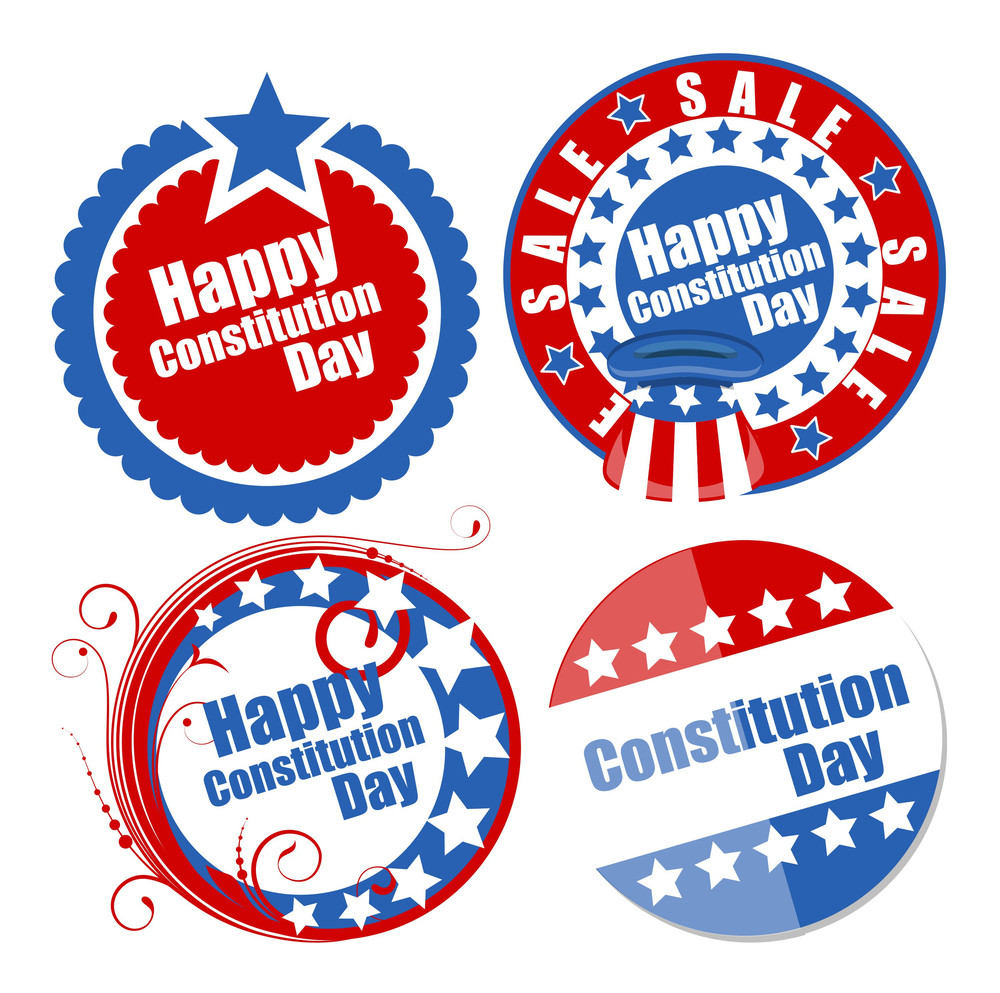 Circular Designs For Constitution Day Vector Illustration