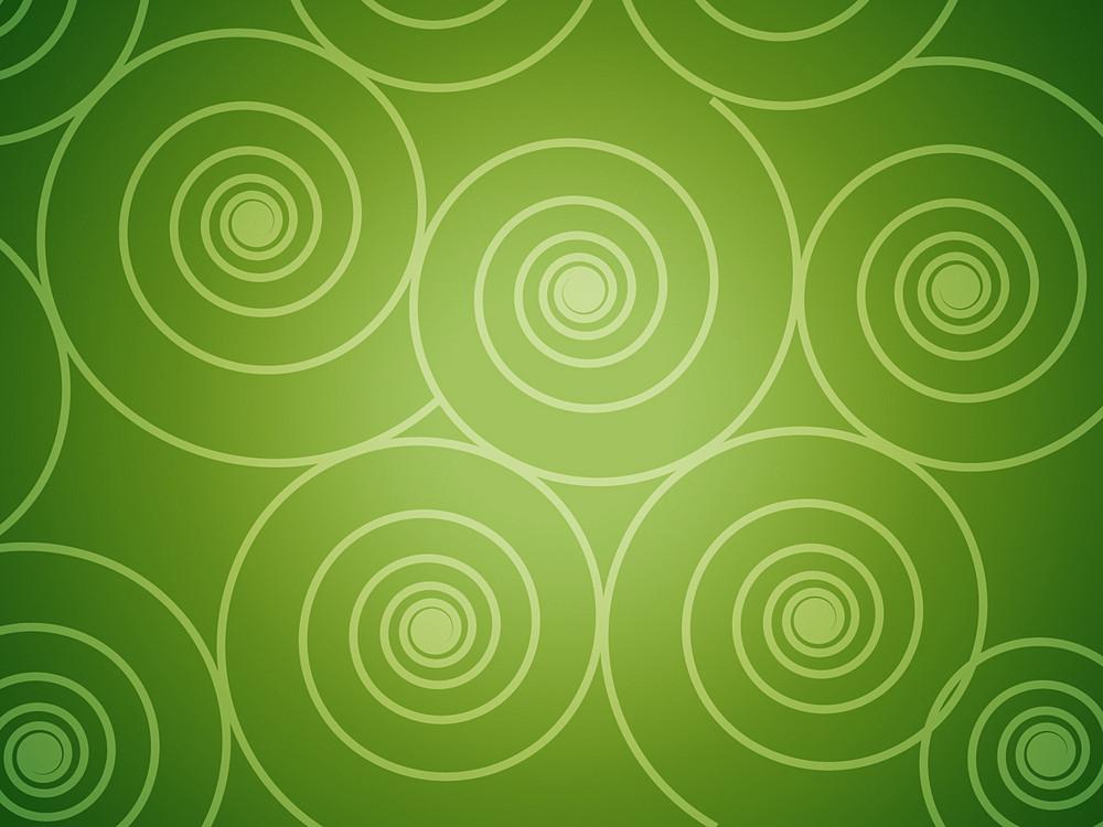 Circular Designs In Green Background