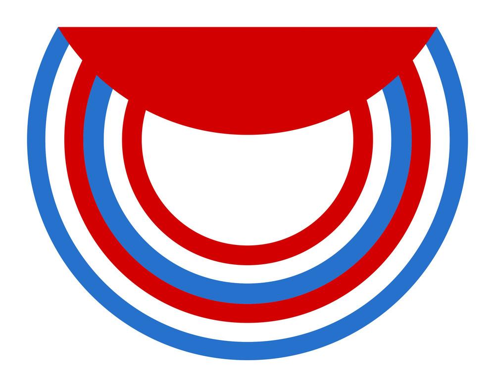 Circular Folded Design Usa Independence Day Vector Theme Design