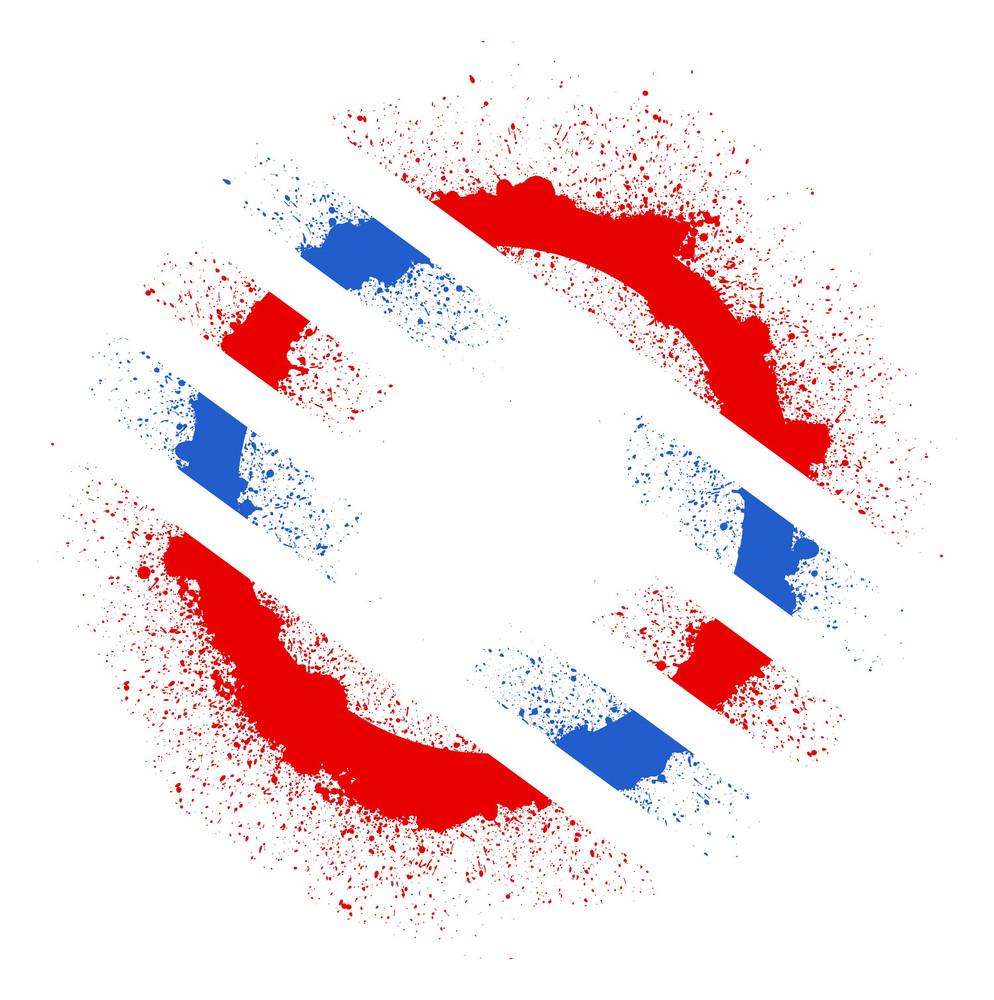 Circular Grunge 4th Of July Vector Theme Design