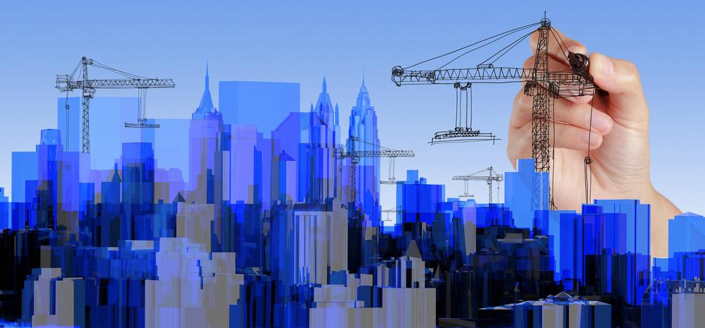 City Blue Xray Transparent Rendered