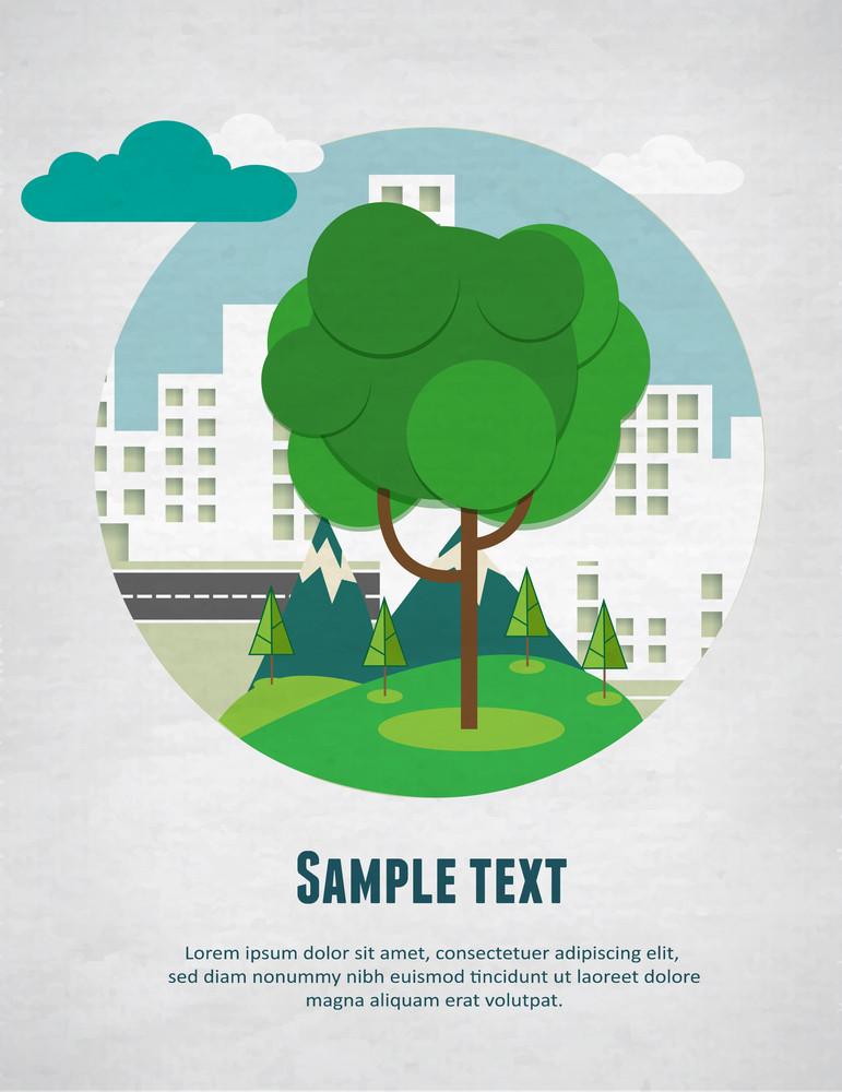 City Park Poster Concept (editable Text)