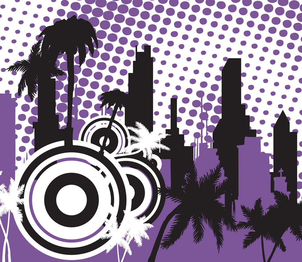 City With Palm Trees
