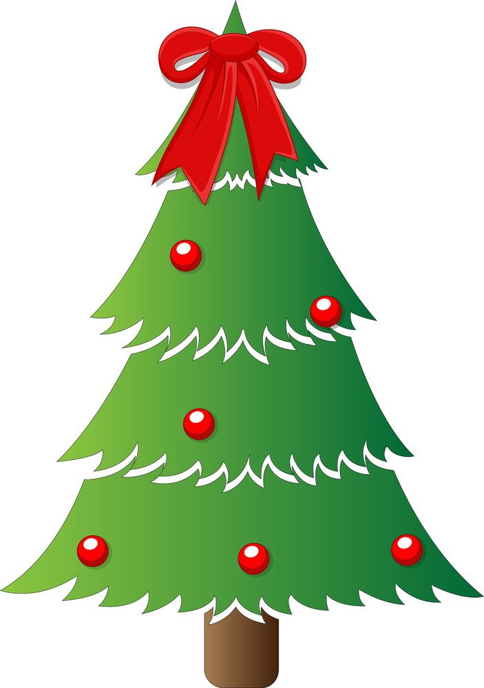 Classic Tree - Christmas Vector Illustration