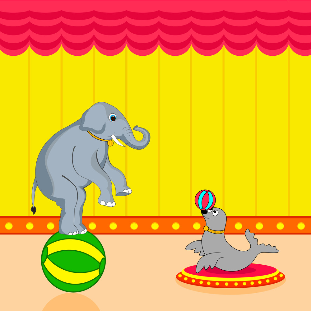 Classical Circus Background.