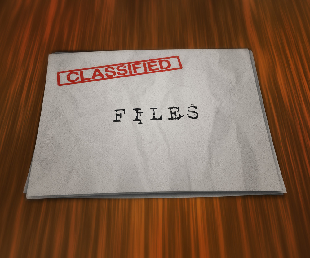 Classified Files On The Table