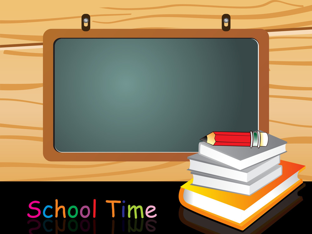 Classroom Background With Notebook