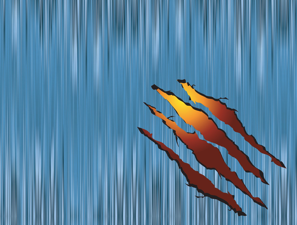 Claw Scratches On Metal. Vector Background.