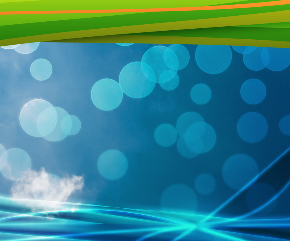 Clean Blue Nature Abstract Background
