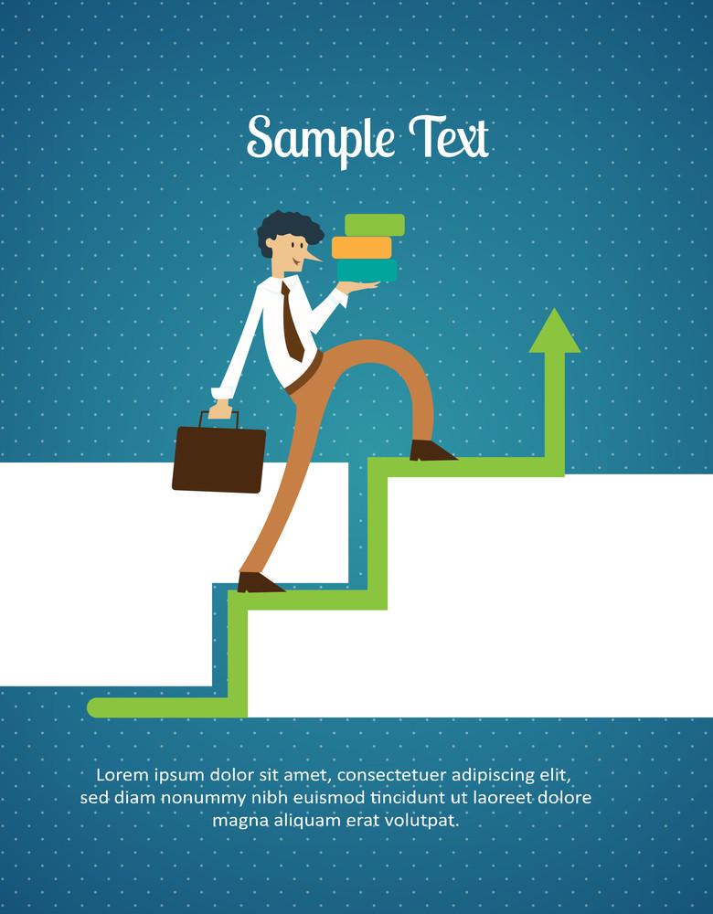 Climbing Corporate Staircase (editable Text)