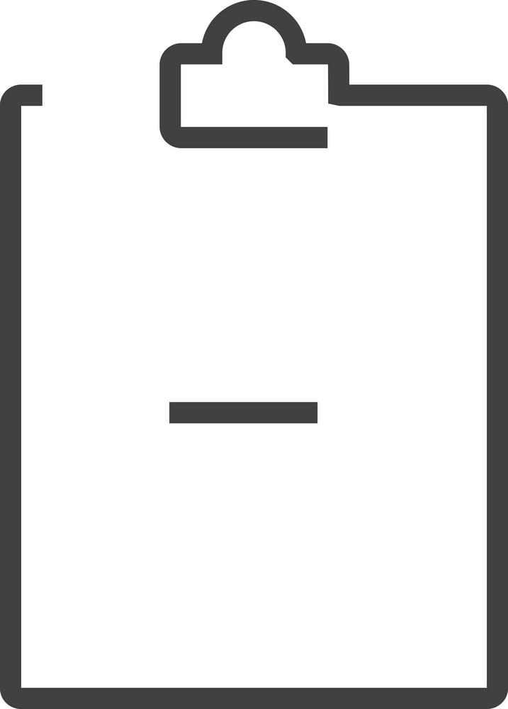 Clipboard 2 Minimal Icon