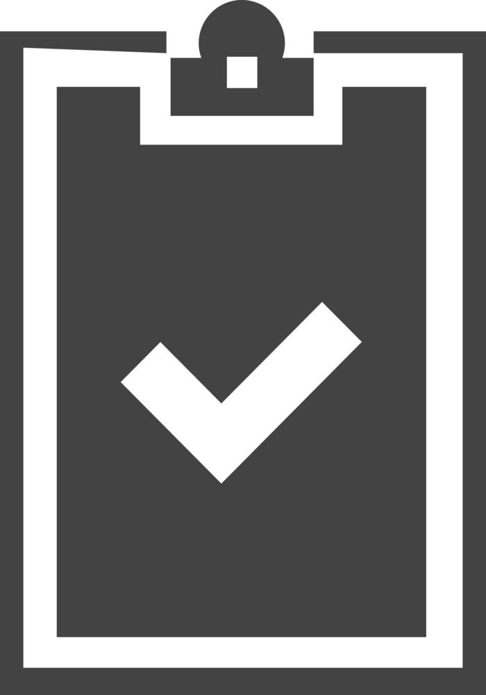 Clipboard Check Glyph Icon