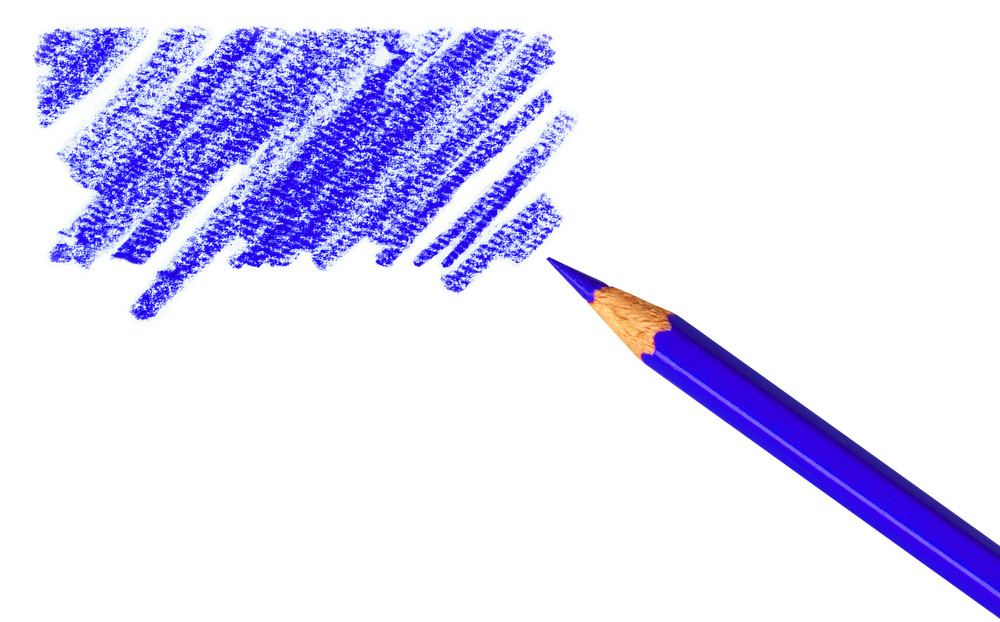 Clipping Path. Pen With Scribbles On White Background.