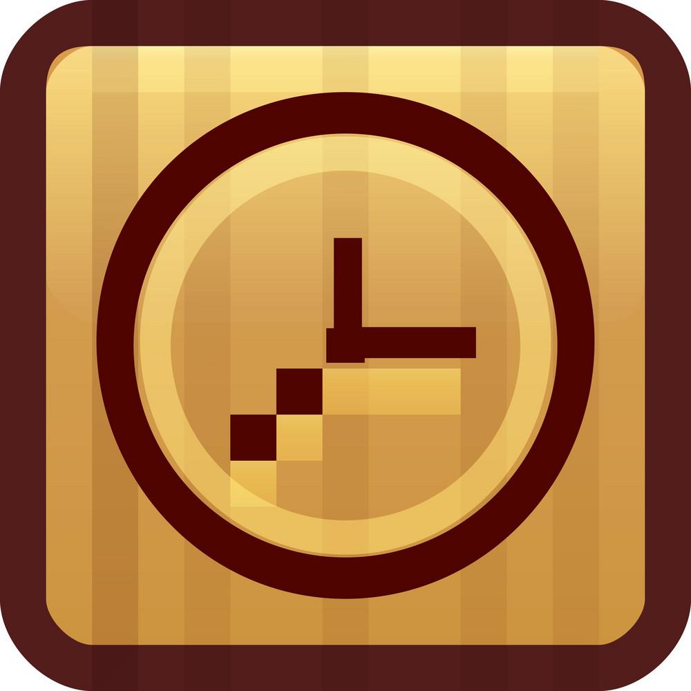 Clockface Brown Tiny App Icon
