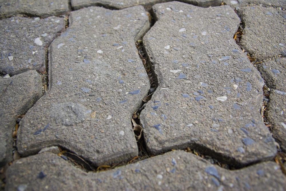 Close up concrete block on floor