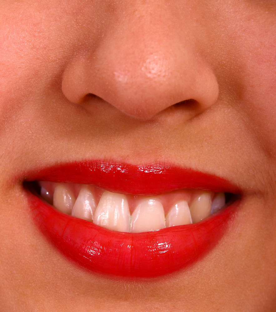 Close Up Of Lips Mouth And Teeth