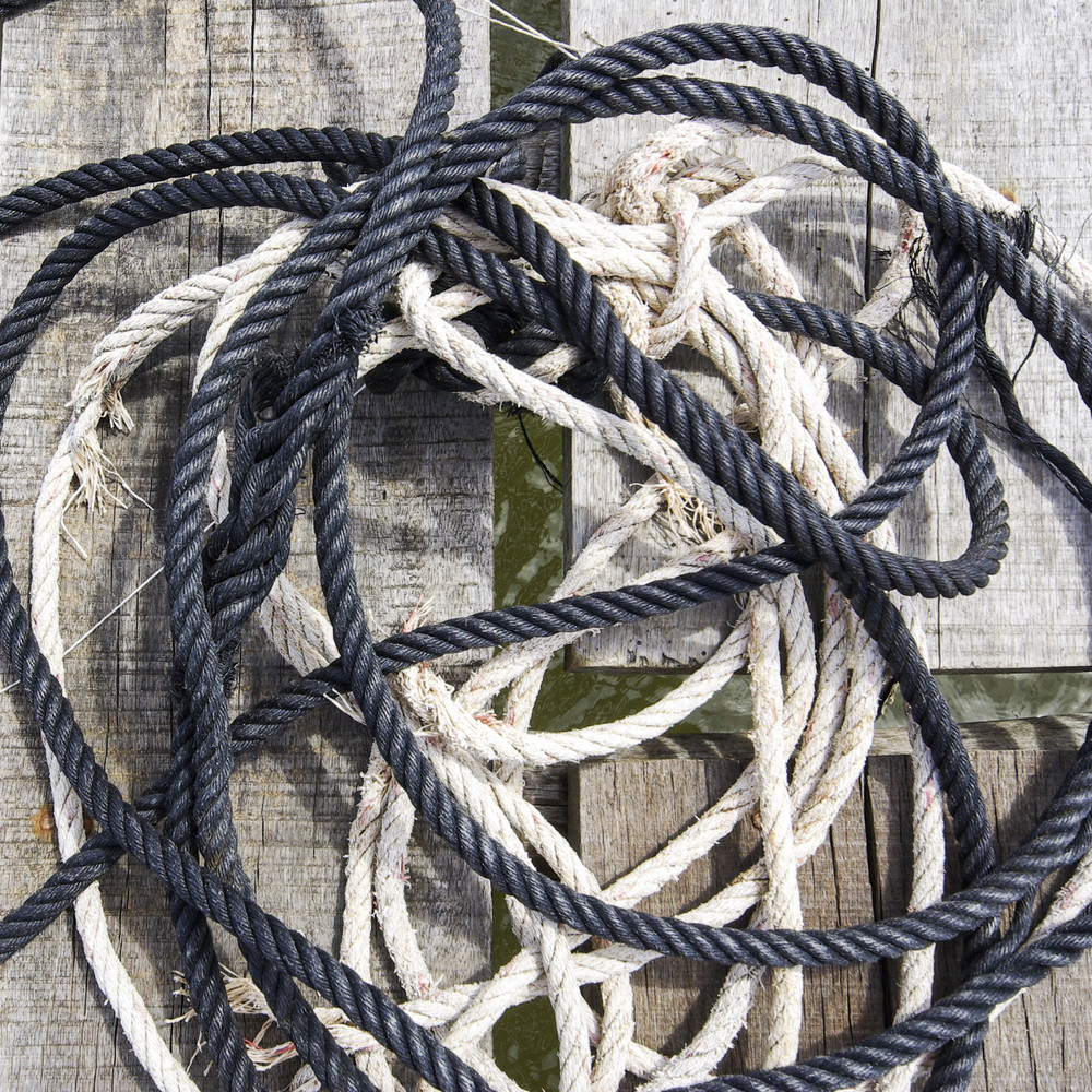 Close up rope on wood texture and background