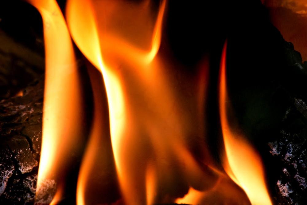Closeup Fire Flame