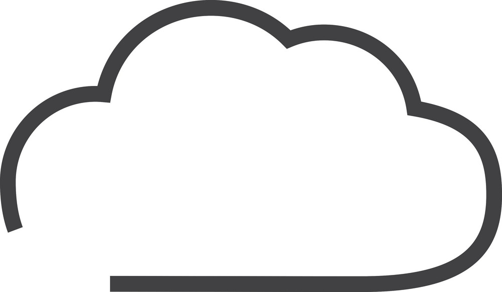 Cloud 1 Minimal Icon