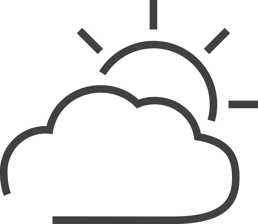 Cloud 6 Minimal Icon