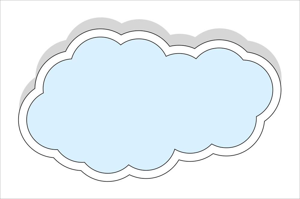 Cloud Banner Vector