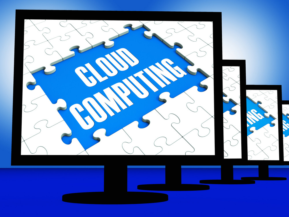 Cloud Computing On Monitors Showing System Networks