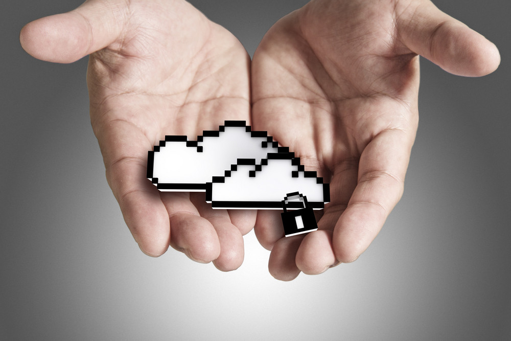 Cloud Computing Pixel Icon