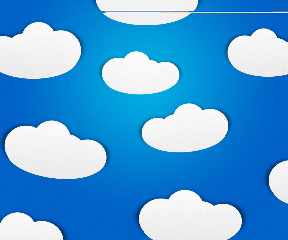 Clouds On Blue Background