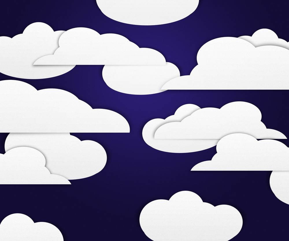 Clouds On Dark Background