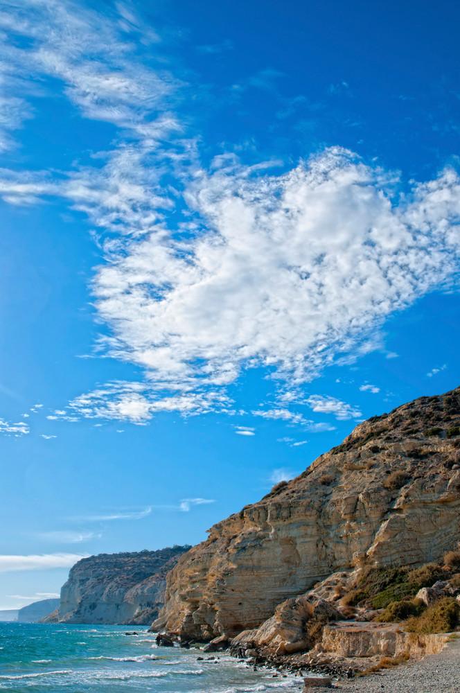 Cloudy Sky Over Kourion Coast. Cyprus