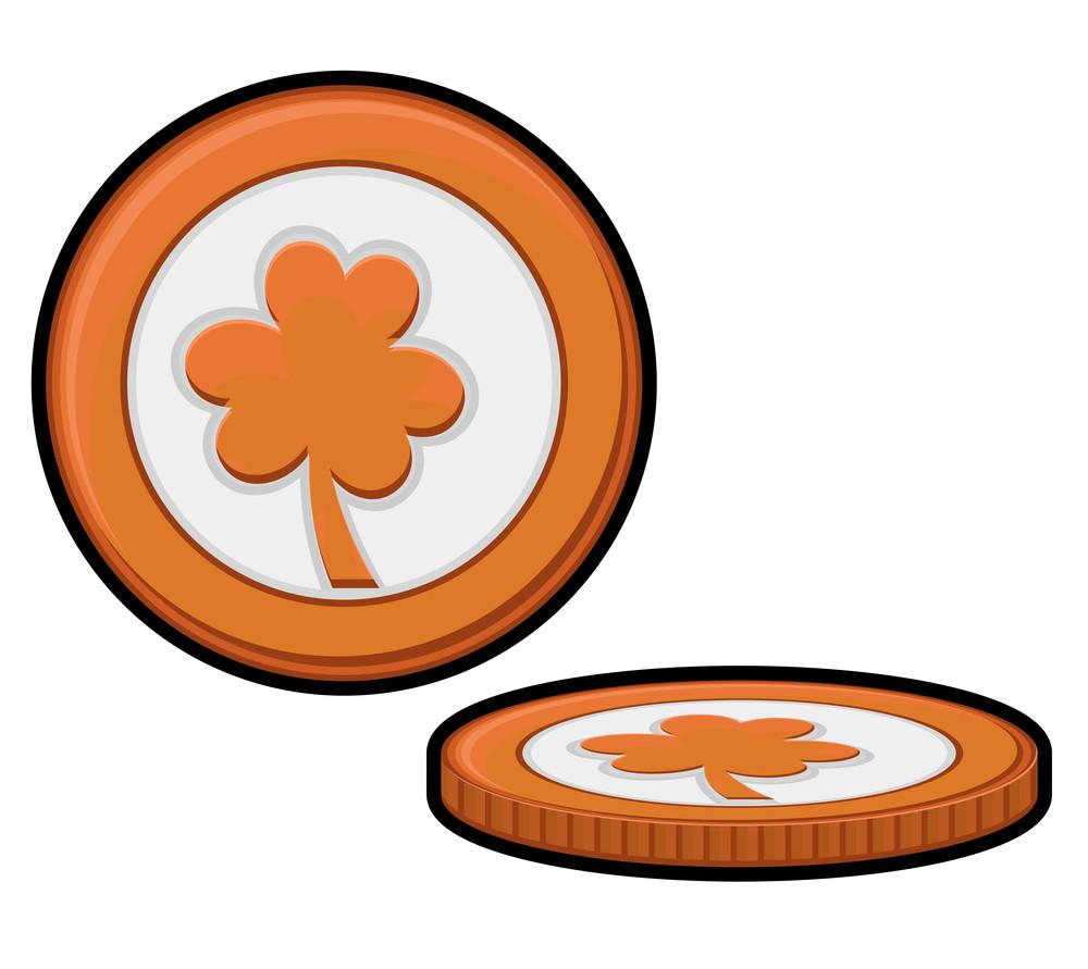 Clover Leaf Retro Coins