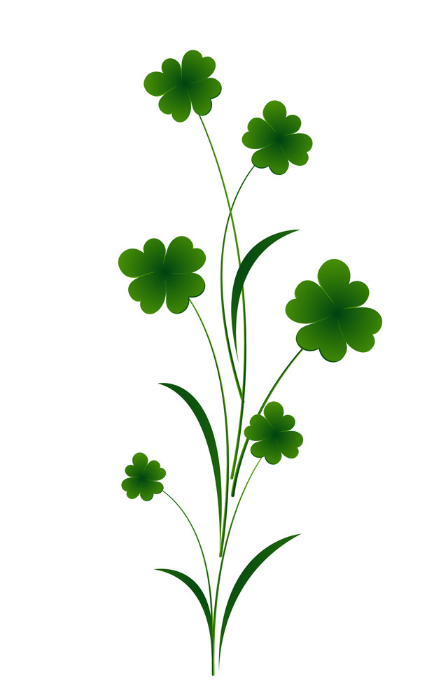 Clover Leaves Vector Element