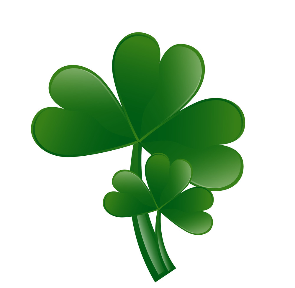 Clover Leaves Vector Elements