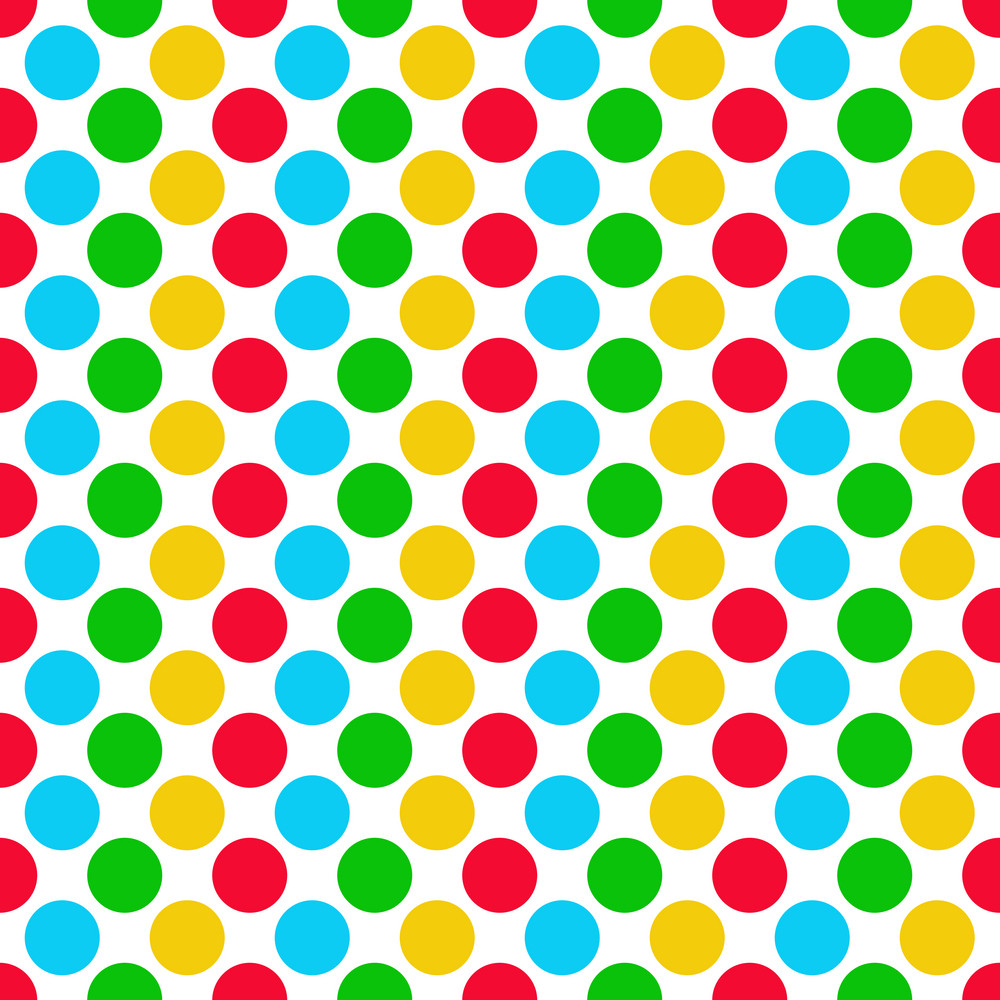 Colourful Polka Dot Clubhouse Pattern