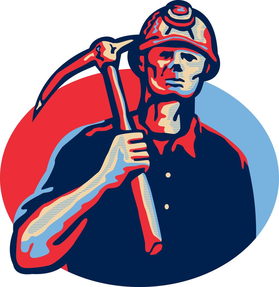 Coal Miner Pick Axe Retro