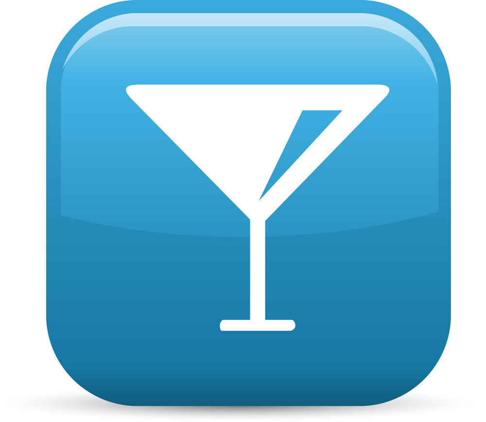 Cocktails Elements Glossy Icon