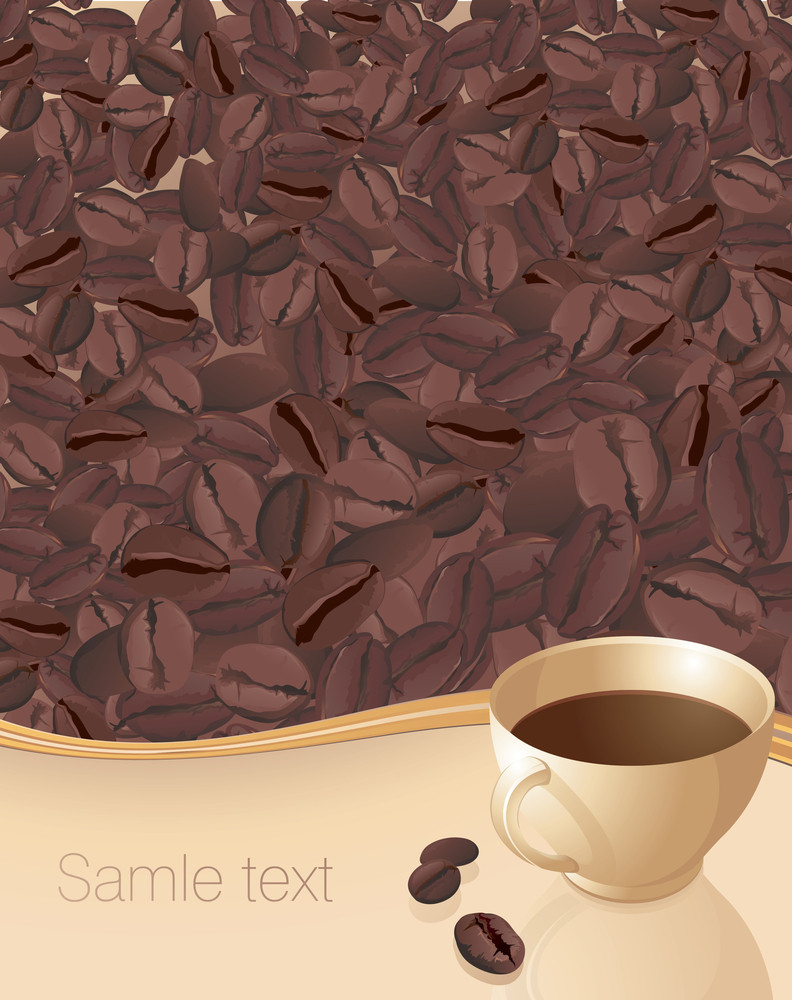 Coffee Abstract. Vector.