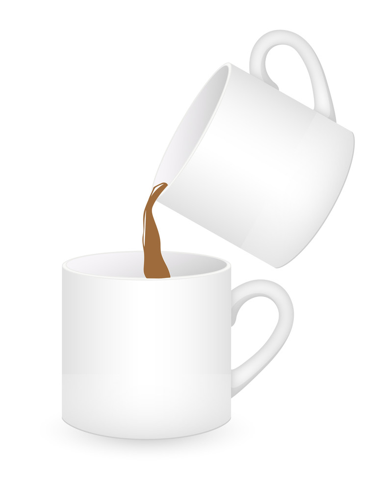 Coffee Cups Pouring Vector