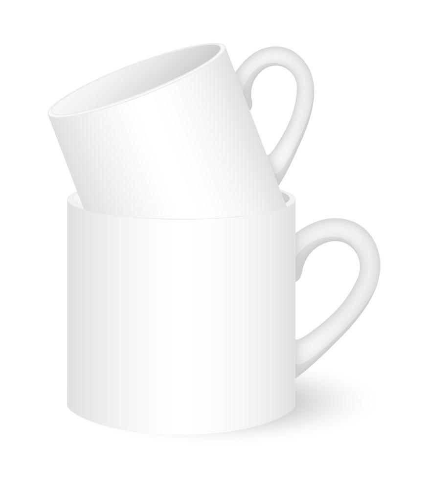Coffee Mugs Vector Illustration