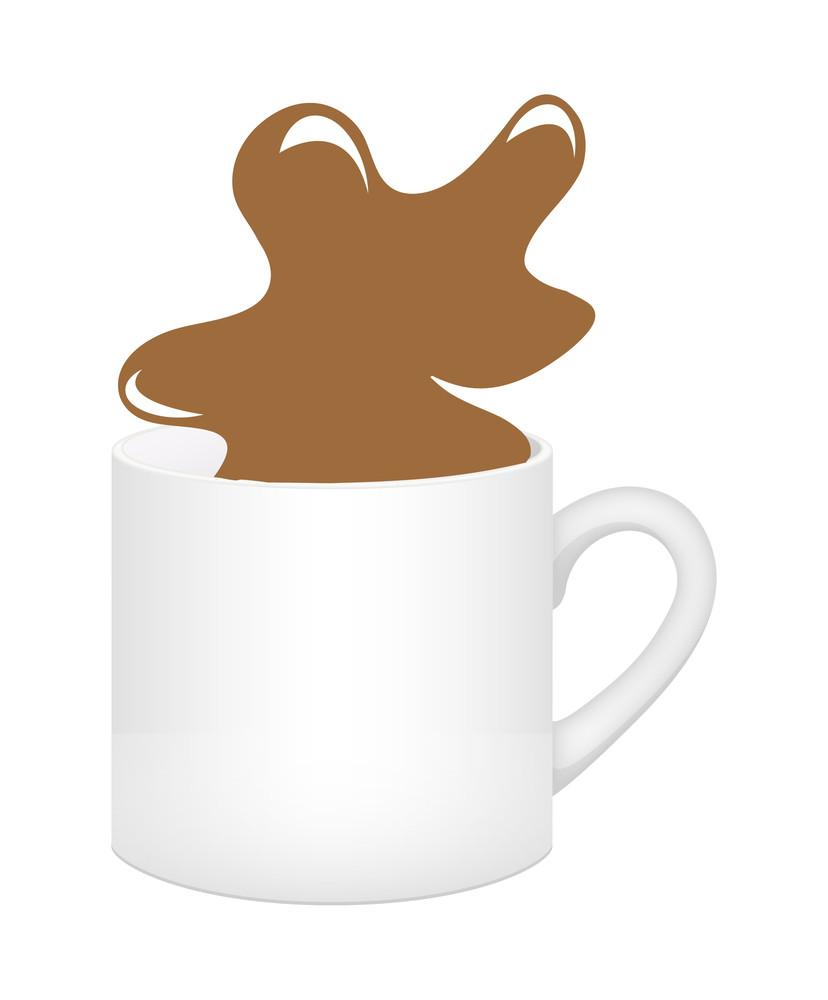 Coffee Splash In Cup