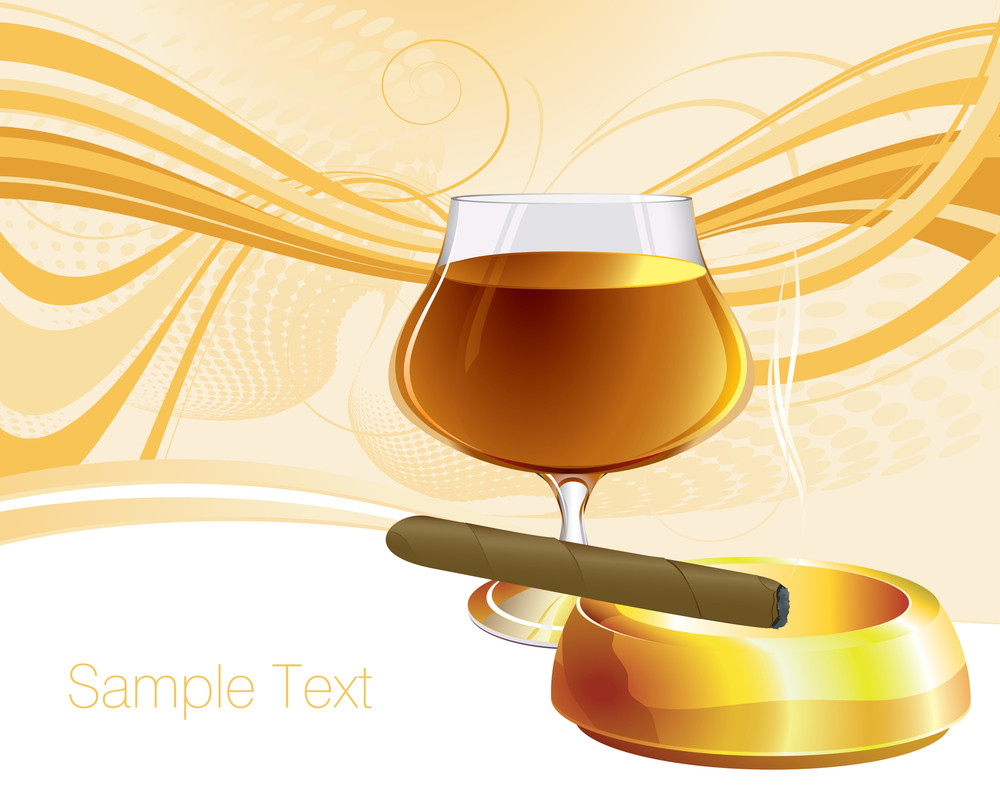 Cognac. Vector Background.