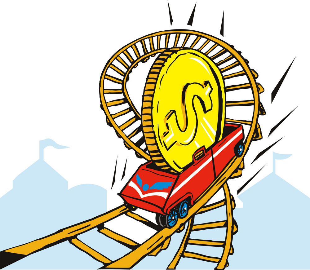 Coin Money On Rollercoaster