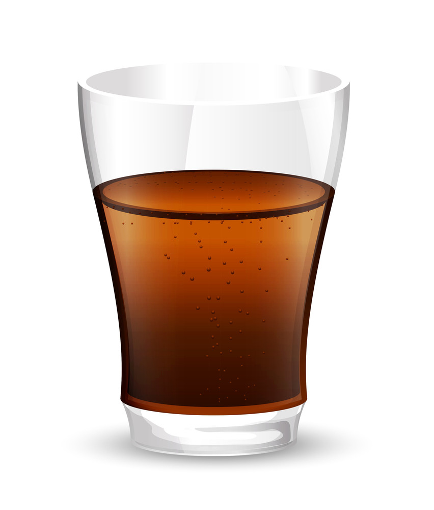 Cold Drink Glass Vector Illustration