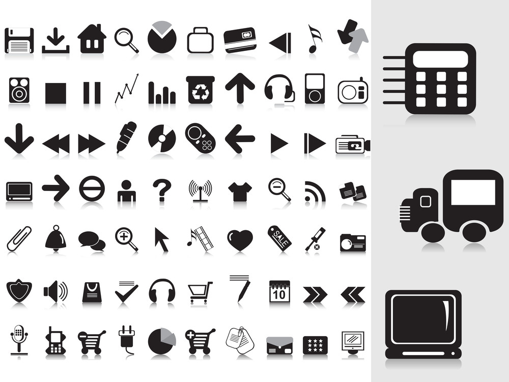 Collection Of Black Icons